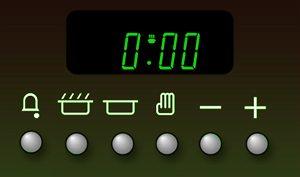 zegar w piekarniku